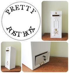 Our White GR Royal Mail Post Box With Gold Lettering