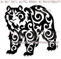 Kazakh Tribal Bear Design by WildSpiritWolf