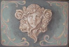 Art Nouveau | Italian Frescoes have a wall sconce like this