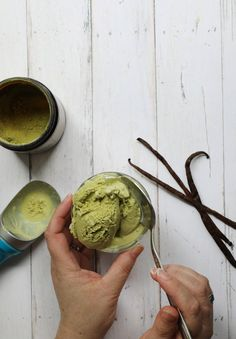 Organic matcha powder is the perfect way to achieve a robust green tea flavor and a vibrant green color in homemade green tea ice cream. It's also got a nice caffeine kick for an ice cream party that won't quit! Matcha Ice Cream, Green Tea Ice Cream, Ice Cream Party, Matcha Green Tea, Organic Matcha Powder, Organic Sugar, How To Make Matcha, Ice Cream At Home, Ice Cream Recipes