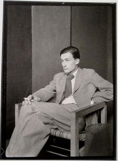 The artist Balthus - portrait by Man Ray