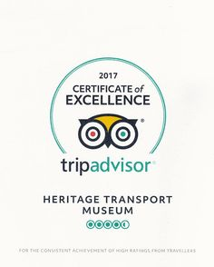 Certificate of Excellence 2017 by Trip Advisor! Transport Museum, Collections Of Objects, Awards 2017, Incredible India, Appreciation, Certificate, Trip Advisor, Transportation, Certificate Of Deposit
