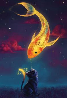 The Cat and the Fish - Quing Han