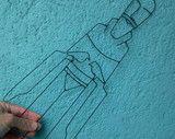 Escultura São Francisco de arame