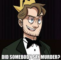 mad king Ryan by Rwby Red, Achievement Hunter, Red Vs Blue, Rooster Teeth, Serial Killers, Youtubers, Mad, King, Hunters