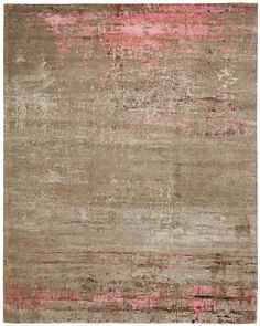 Artwork 19: Pink Hand knotted in Wool.Silk, Nettle