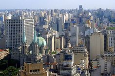 São Paulo is the most populous city in Brazil, besides being its main economic, financial and commercial center. With a great cultural wealth, São Paulo is Sao Paulo Brazil, New York Skyline, Cool Designs, City, Commercial Center, Photography, Travel, Skyscrapers, Ethnic