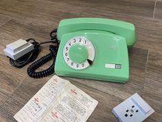 New Vintage light green phone 1985s, Green phone, Old rotary phone, Circle dial rotary phone, Vintage landline phone, Old Dial Desk Phone Retro Phone, Vintage Phones, Home Phone, Best Phone, New Green, Vintage Lighting, Rotary, Landline Phone, Desk