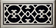 satin nickel white bronze finish grill covers, register covers, return air covers, custom home grill covers