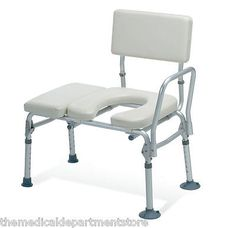Toilet Frames and Commodes: Guardian Padded Transfer Bench W Commode Opening 300Lb Capacity G98013a -> BUY IT NOW ONLY: $96.98 on eBay!