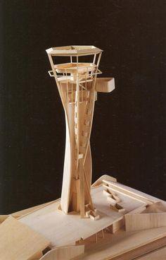 Torre de Control en el Aeropuerto de Alicante. Maqueta.