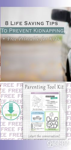 Teach your children life-saving tips and download my FREE printable to help protect your family! #Kidnapping #Safety #Family #LatchPal