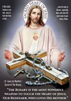 The rosary is the most powerful weapon to touch the heart of Jesus, Our Redeemer, who loves His Mother so much.