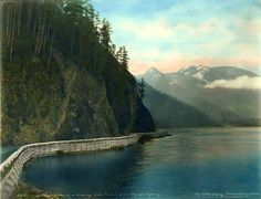 Lake Crescent with Olympic Mountains in background, ca. 1927