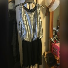 C. Luce pleated dress with silver top. NWT. A great formal dress! C. Luce  Dresses
