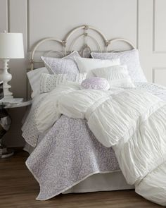 There's just something about a white comforter that sets off the room. [Horchow]Queen White Comforter, x Duvet, Linen Bedding, Bedding Sets, Bed Linens, King Comforter, White Bedding, Bedroom Bed, Dream Bedroom, Bedroom Decor