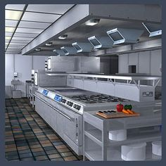 Commercial Kitchen Layout Ideas | Restaurant Kitchen Layout 3d Food Service Kitchen Commercial Kitchen