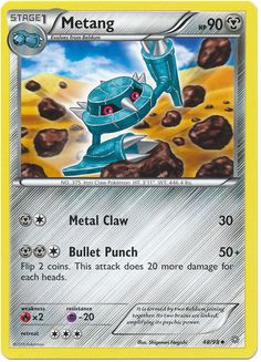 Metang 48/98 Pokemon TCG: XY Ancient Origins Pokemon Card #pokemon #pokemontcg #pokemoncards