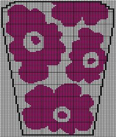 Filet Crochet, Knit Crochet, Knitting Patterns, Crochet Patterns, Intarsia Knitting, Button Art, Marimekko, Crochet Projects, Tapestry