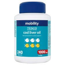 R3212 402521 Tesco Cod Liver Oil 1000Mg 240'S
