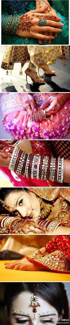 异域风情婚礼,印度新娘的婚纱和首饰