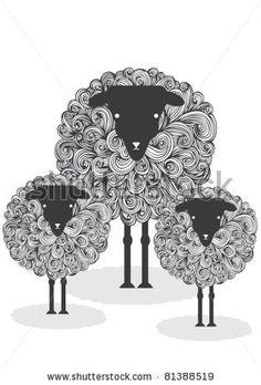 illustration sheep by lyeyee, via Shutterstock