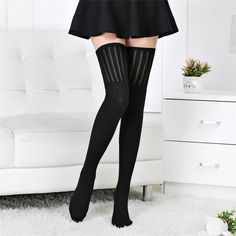 Durable Acrylic Stocking for winer and autumn Womens Winter Thigh High comfortable Stretch Stockings Winter Socks, Warm Socks, Sexy Socks, Cute Socks, Sock Shop, Happy Socks, Women's Socks & Hosiery, Knitting Socks, Knitted Tights