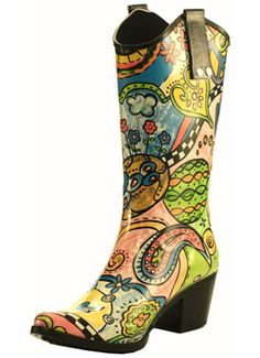 Since I do live in Texas, perhaps I need cowboy boot inspired rain boots?