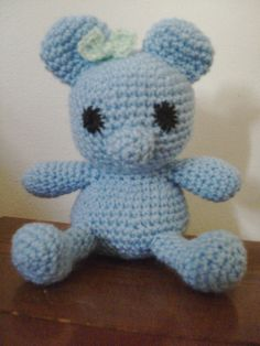 Blue teddy bear  The first attempt