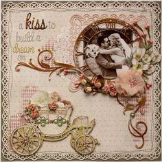 A Kiss to Build a Dream On *Australian Scrapbook Ideas Magazine Cover!!** - Scrapbook.com