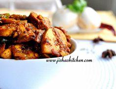 Kerala Mushroom Roast. Tastes meaty. Really good with appams, roti, rice etc.