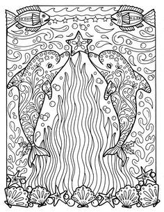 Free Printable Adult Coloring Books New Christmas Dolphins Coloring Page Adult Coloring Beach Color Beach Coloring Pages, Dolphin Coloring Pages, Animal Coloring Pages, Coloring Book Pages, Coloring Pages For Kids, Printable Adult Coloring Pages, Christmas Coloring Pages, Christmas Colors, Beach Christmas