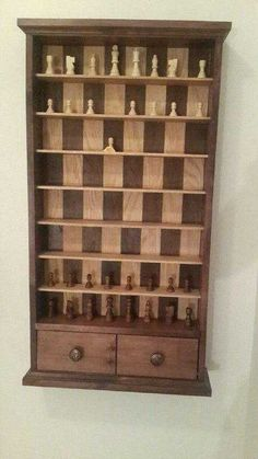 Post with 16297 views. My dad made me a Vertical Chess Board for my Bday Into The Woods, Wood Games, Creation Deco, Diy Holz, Chess Pieces, Diy Furniture Plans, Wood Toys, Wood Art, Home Projects