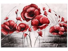Vászonkép Piros pipacsok 2452A_1T - TokeletesKepek.hu Die 100, Painting & Drawing, Poppies, Tapestry, Drawings, Canvas, Decor, Products, Hanging Tapestry