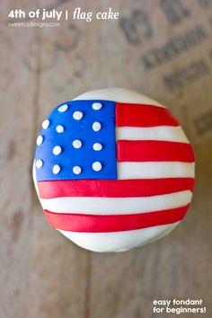American Flag Mini Cakes - Sweet C's Designs