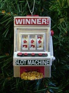 New Winner Slots Gambling Casino Slot Machine Wild Cherry Ornament