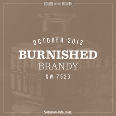 The start of fall calls for a warm color, which is why we chose brown paint color Burnished Brandy (SW 7523) as our October color of the month