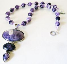 Purple Necklace  Amethyst  Amethyst Pendant by MyGemstoneDesigns, $75.00