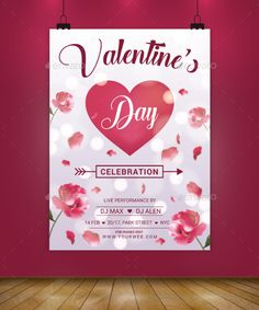 Super Valentines Day Flyer Design Template - Flyer Design Print Template AI Illustrator. Download here: https://graphicriver.net/item/super-valentines-day-flayer/19405758?ref=yinkira