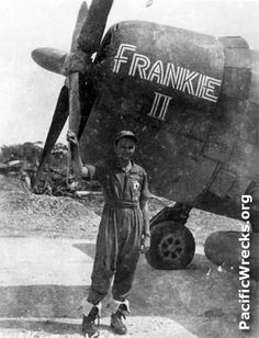 Frankie II and pilot Sam Blair ... future ace and commander for a time of the 341st Fighter Squadron in the 348th Fighter Group of the 5th Air Force operating in the South Pacific.
