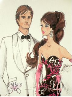Barbie & Ken 45th Anniversary Sketch