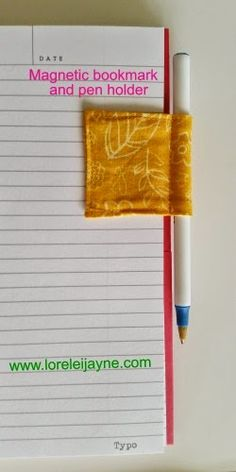 Magnetic Bookmark and Pen Holder Tutorial. Awesome pen holder and book mark for journals!
