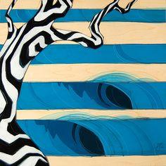 """""""Zimzala"""" by Erik Abel #surfart #art #surfing"""