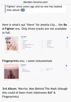 87 Best album [BL] art (Pop Rock (Amelia Lily contestant: XF