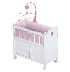 Badger Basket Doll Crib with Cabinet