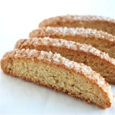 American-Style Vanilla Biscotti – unlike Italian biscotti, these are crunchy, not rock-hard. {I make these all the time, switching out to hazelnut extract & adding 2/3 cup plain Heath bits. Love ya, KAF!}