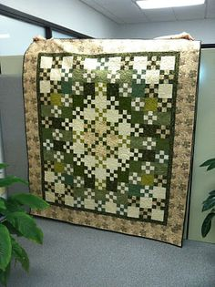 Simple nine patches still make a stunning quilt