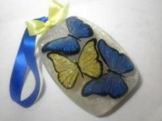 Handmade Butterflies soap floating inside a pearl soap - by Kokolele on Etsy