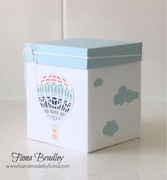 Purchase the tutorial to make this gorgeous box or get it free when you order in my store.  Up Up and Away - Stampin' Up! - Fiona Bradley