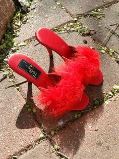 Polly of California vintage boudoir slippers!